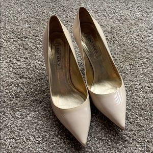Emily pumps. Nude pointy toe pumps